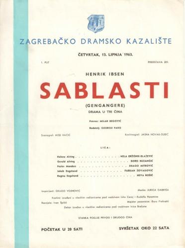 Sablasti : Drama u tri čina  =  Gengagere
