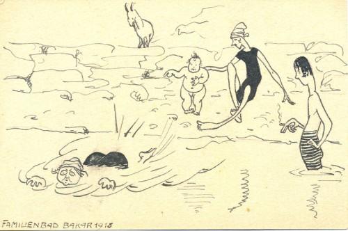 Dopisnica Bogumila i Dore Car iz Bakra Antunu Ullrichu, 19.7.1918.