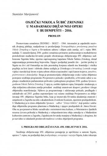 Osječki Nikola Šubić Zrinjski u mađarskoj Državnoj Operi u Budimpešti - 2016