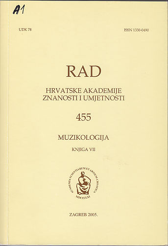 Knj. 7(2005) : muzikologija : RAD