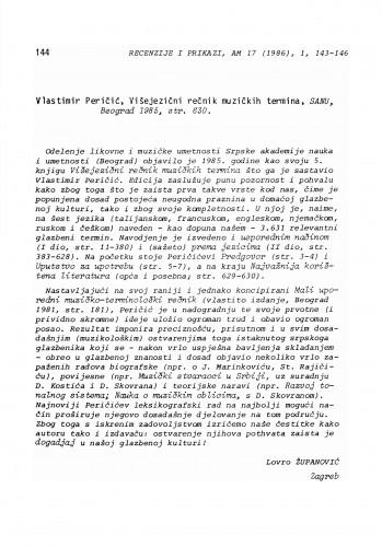 Vlastimir Peričić: