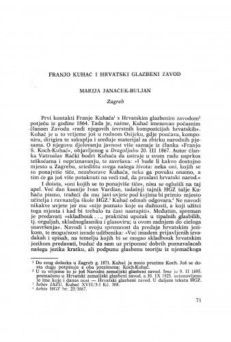 Franjo Kuhač i Hrvatski glazbeni zavod