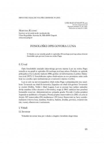Fonološki opis govora Luna