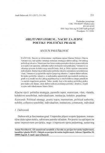 Obliti privatorum... Nacrt za jednu poetiku političke prakse / Antun Pavešković
