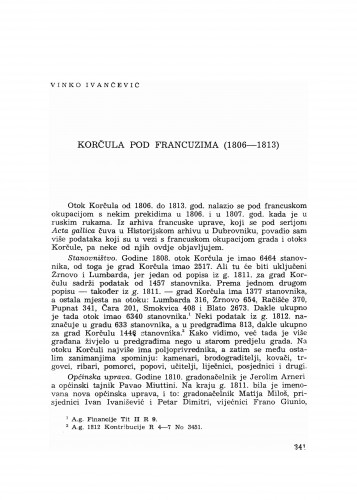 Korčula pod Francuzima : (1806-1813)