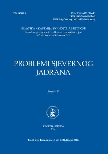 Sv. 15(2016) : Problemi sjevernog Jadrana