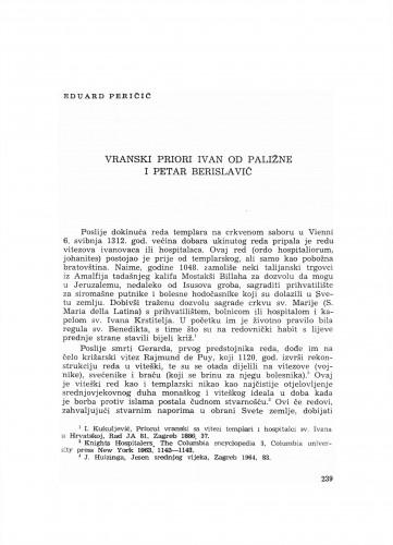 Vranski priori Ivan od Paližne i Petar Berislavić
