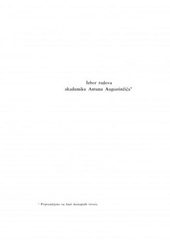 Izbor radova akademika Antuna Augustinčića