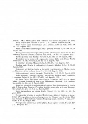Popis radova akademika Luke Marića
