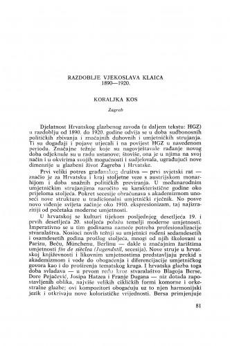Razdoblje Vjekoslava Klaića 1890−1920.
