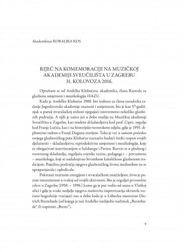 Riječ na komemoraciji na Muzičkoj akademiji Sveučilišta u Zagrebu 31. kolovoza 2016.