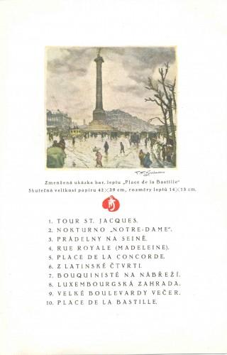 Reklamni letak s popisom grafika T.F. Šimona