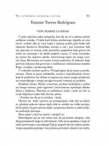 Vino marke La Rioja : [tri suvremena kubanska autora]