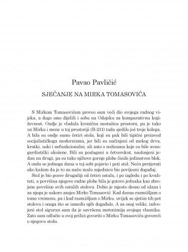 Sjećanje na Mirka Tomasovića