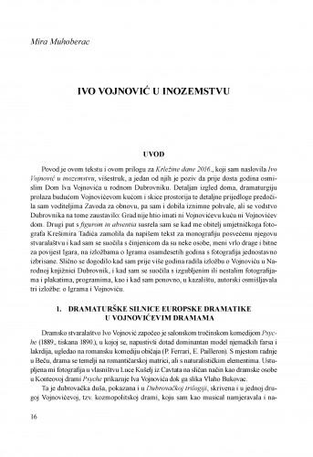 Ivo Vojnović u inozemstvu