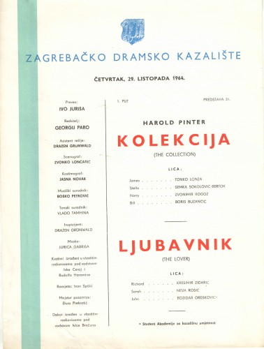 Kolekcija ; Ljubavnik  =  The Collection - The Lover