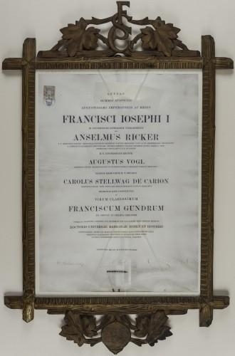 Diploma doktora medicine Frana Gundruma