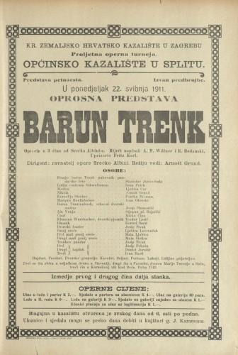 Barun Trenk : Opereta u 3 čina