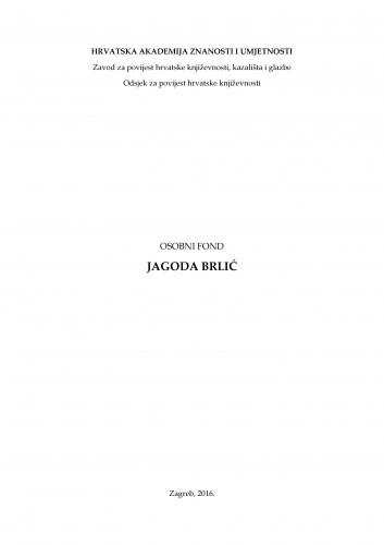 Osobni fond Jagoda Brlić
