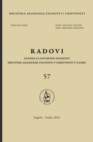 Sv. 57(2015) : Radovi Zavoda za povijesne znanosti HAZU u Zadru