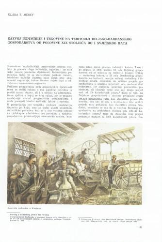 Razvoj industrije i trgovine na teritoriji beljsko-dardanskog gospodarstva od polovine XIX, stoljeća do I svjetskog rata