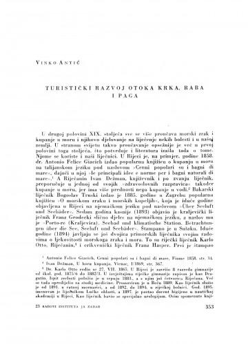 Turistički razvoj otoka Krka, Raba i Paga