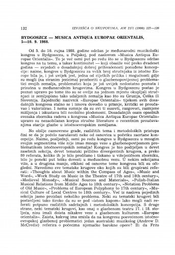 Musica Antiqua Europea Orientalis, Bydgoszcz, 5-10. 9. 1988.