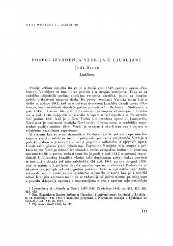 Počeci izvođenja Verdija u Ljubljani