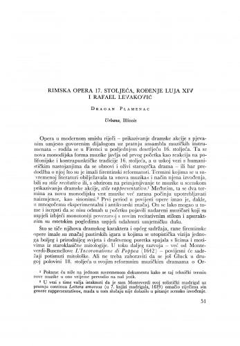 Rimska opera 17. stoljeća, rođenje Luja XIV i Rafael Levaković
