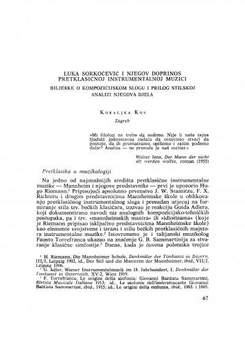 Luka Sorkočević i njegov doprinos pretklasičnoj instrumentalnoj muzici : bilješke o kompozicijskom slogu i prilog stilskoj analizi njegova djela