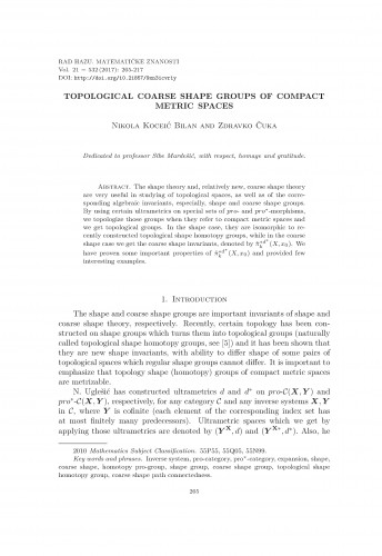 Topological coarse shape groups of compact metric spaces