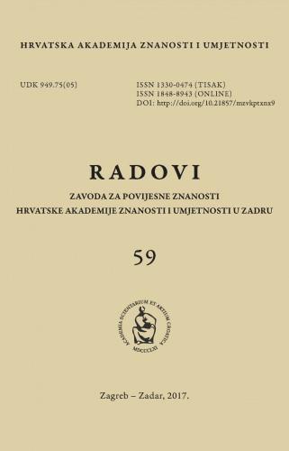 Sv. 59(2017) : Radovi Zavoda za povijesne znanosti HAZU u Zadru