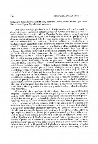 Cataloghi di fondi musicali italiani, sv. 10-13, Rim, 1989-1990