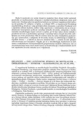 Der lateinische Hymnus im Mittelalter: Überlieferung - Ästhetik - Ausstrahlung, Erlangen, 05.-07.05.1995.