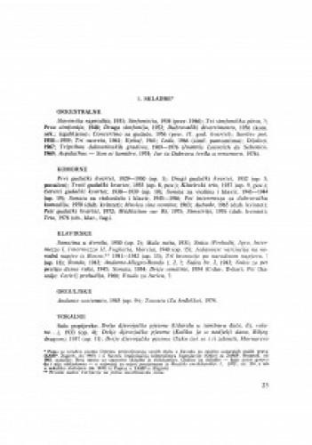 Popis radova Mila Cipre