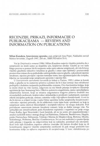Kundera, Milan: Iznevjerene oporuke : esej, Zagreb, Nakladni zavod Matice hrvatske, 1997.