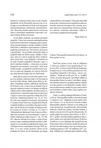 """Tribina """"Demografska katastrofa u Hrvatskoj"""" za dan općine Lovreć : [prikaz] / Radoslav Zaradić"""