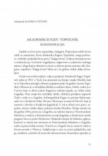 Akademik Eugen Topolnik : komemoracija