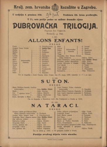 Dubrovačka trilogija   =  Allons enfants! - Suton - Na taraci