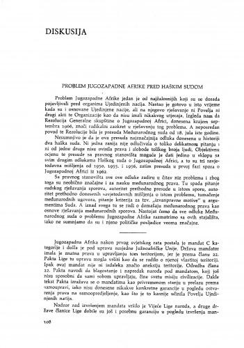 Problem Jugozapadne Afrike pred Haškim sudom / V.Đ. Degan