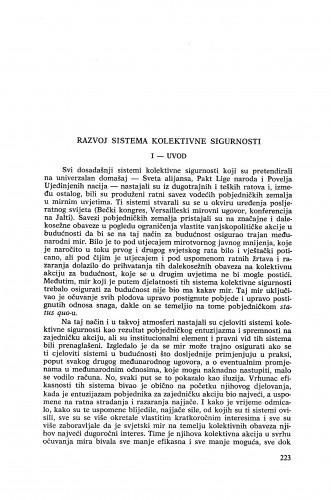 Razvoj sistema kolektivne sigurnosti / Vladimir-Đuro degan