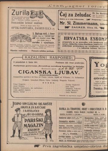Ciganska ljubav Romantična opereta u tri čina  =  Zigeunerliebe