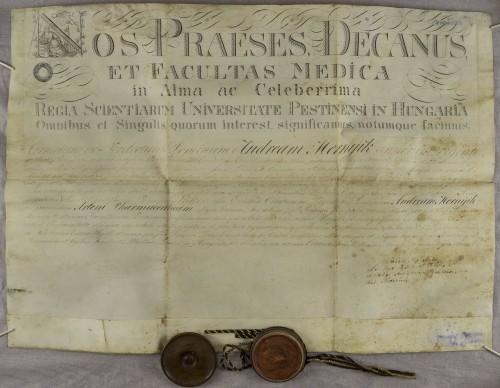 Diploma magistra farmacije Andrije Mernyika