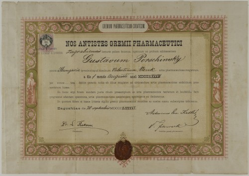 Tirocinijska diploma Gustava Porschinskoga