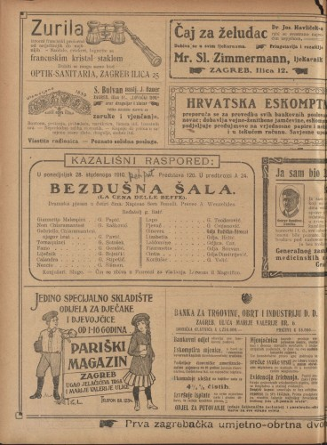 Bezdušna šala Dramska pjesan u četiri čina  =  La Cena delle belfe