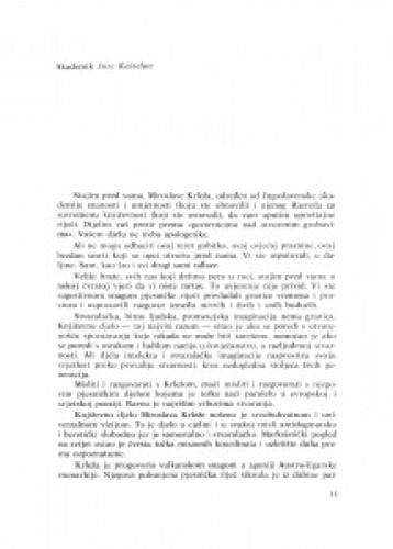 Oproštajna riječ u ime Jugoslavenske akademije znanosti i umjetnosti i Razreda za suvremenu književnost JAZU