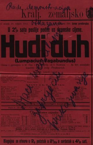Hudi duh (Lumpacius Vagabundus) Gluma s pjevanjem u tri čina i s predigrom  =  Lumpacius Vagabundus