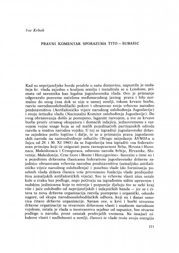 Pravni komentar sporazuma Tito-Šubašić