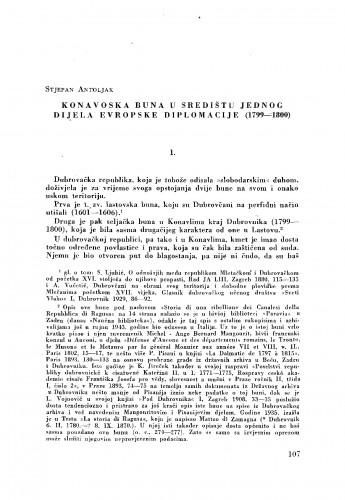 Konavoska buna u središtu jednog dijela evropske diplomacije (1799-1800)