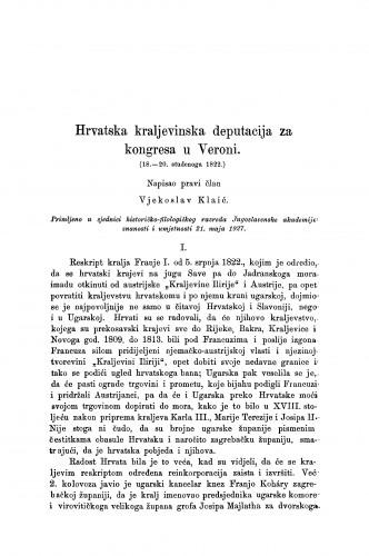 Hrvatska kraljevinska deputacija za kongresa u Veroni